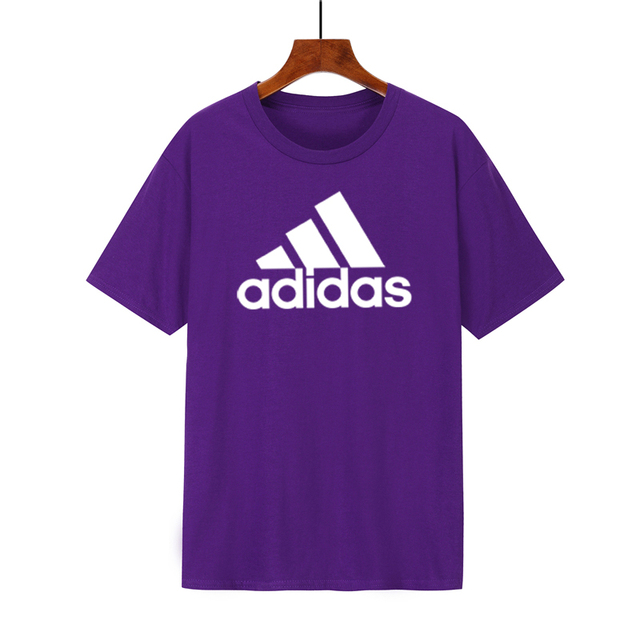 Adidas-Summer Men New Multicolor optional Short Sleeves Round Collar  T-shirt Comfort Breathable Pure Cotton Half Sleeve Tops