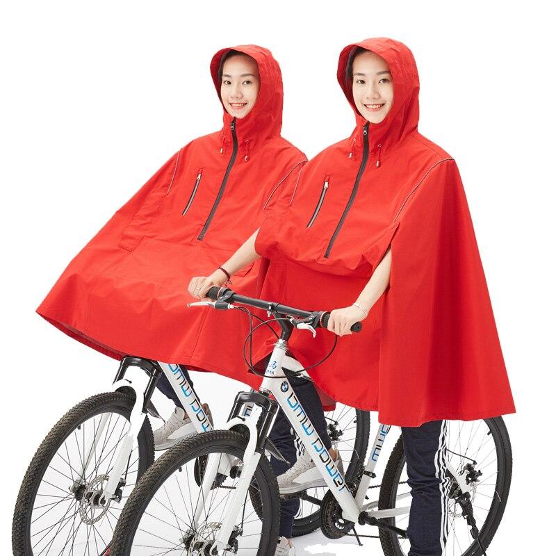 QIAN Cycling Rain Poncho Women/Men Bicycle Rain Coat Multi Rain Gear Reflective Design Cycling Climbing Hiking Tour Rain Cover