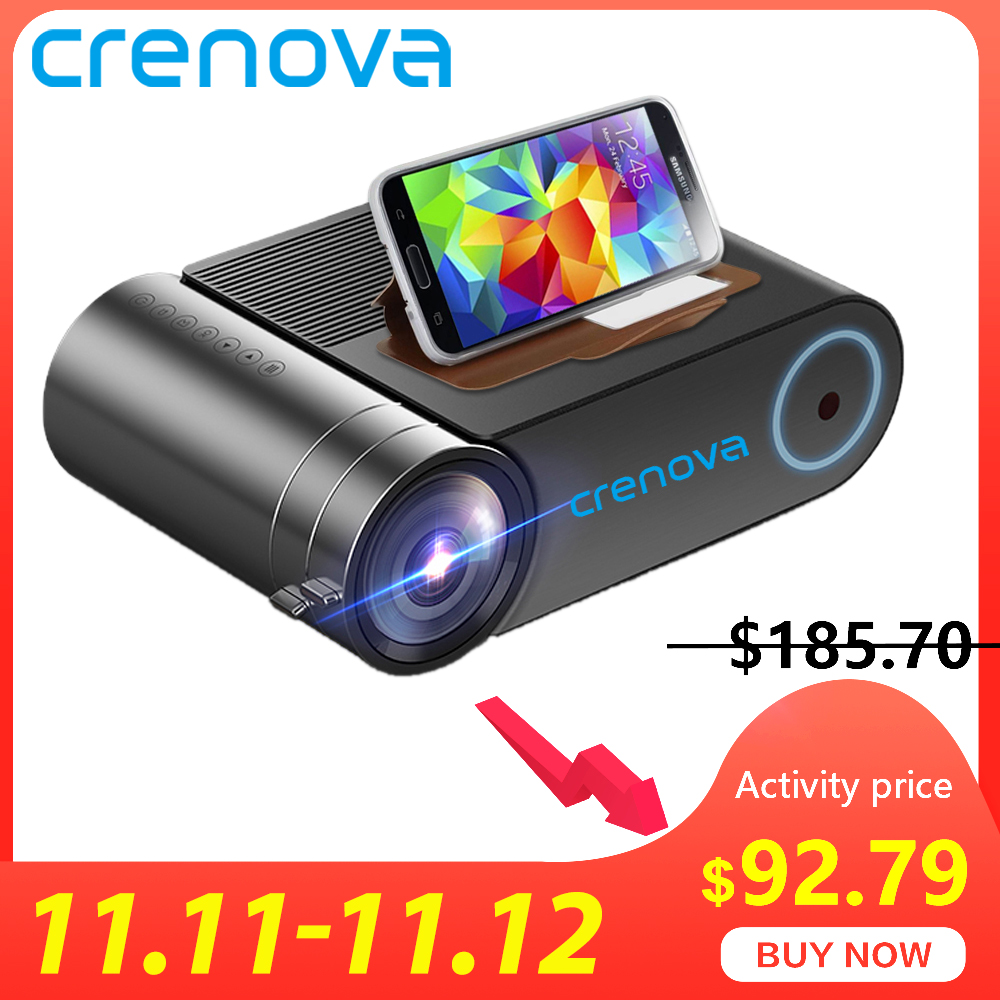 CRENOVA 2019 Newest HD 720P LED Projector For 1080P  Wireless WiFi Multi Screen Video Projector  3D HDMI VGA AV Beamer-in LCD Projectors from Consumer Electronics