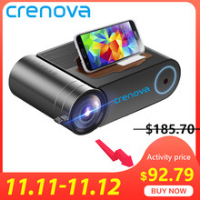 Crenova 2019 Terbaru HD 720P LED Proyektor untuk 1080P Wireless WIFI Multi Layar Proyektor Video 3D HDMI VGA AV Beamer(China)