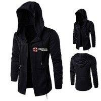 Resident Evil Umbrella MEN'S Coat Long Hooded Jacket Embroidered Stylish Cloak Casual Coat MEN'S Hoodie