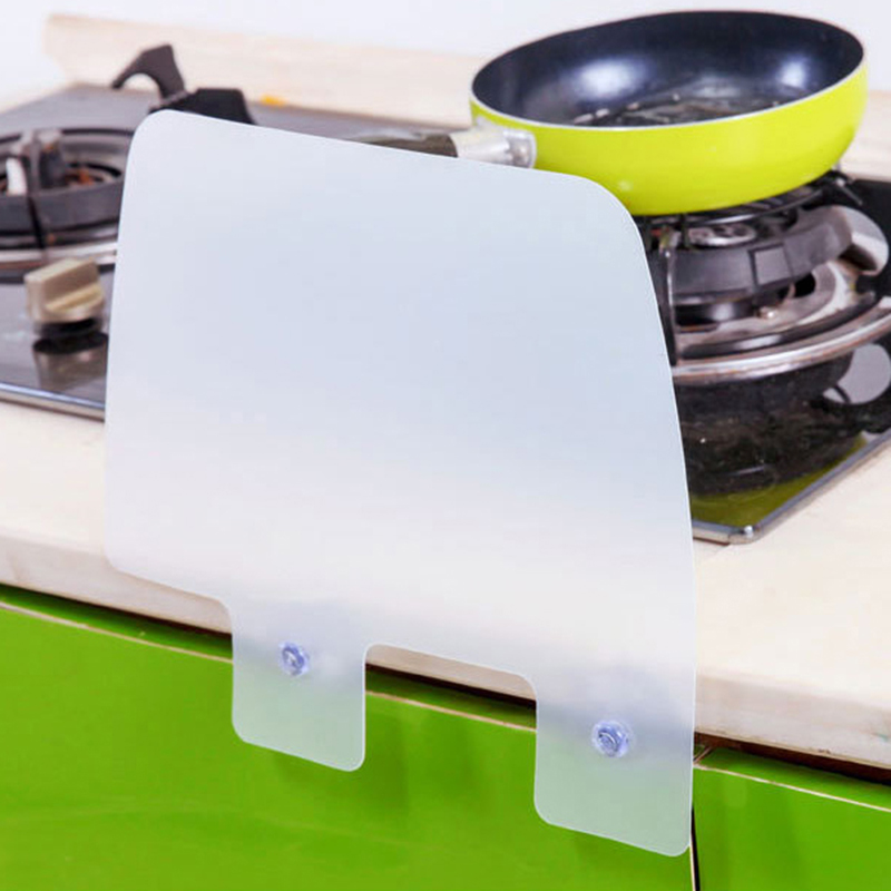 1PCS Kitchen Storage Rack Shelf Wall Rack Suction Cup Splash Water Baffle Pool Board Kitchen Rack Bathroom Accessories Sink Rack