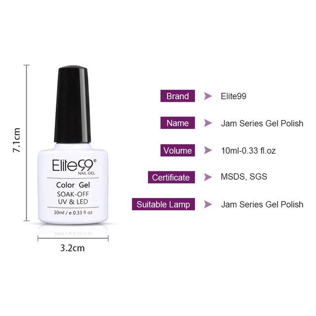 Elite99 10ml Marmelade Gel Nagellack UV Vernis Semi Permanent Primer Top Mantel Lack Reine Farbe Lack Gel Polnisch lack Hybrid
