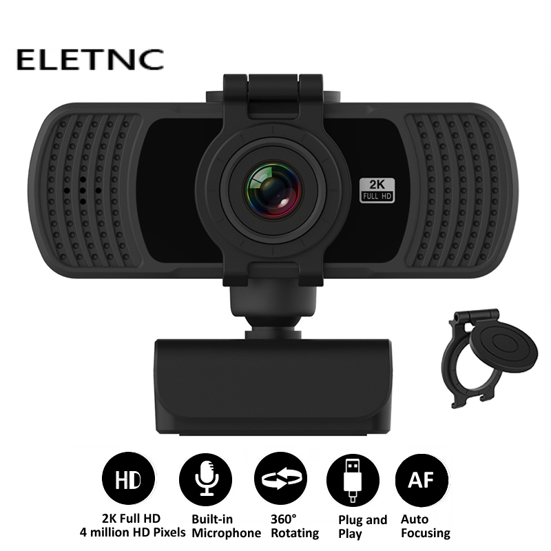 Webcam HD 1080P 2K Computer Web Cam PC Camera With Microphone USB Plug And Play Video Calling Conference Work PC Gamer Webcast