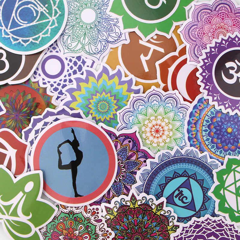 K583 24 pz/set Indiano Yoga Misti Autoadesivi Del Computer Portatile Auto FAI DA TE di Skateboard Graffiti Del Computer Portatile Distintivo Moto Bagaglio Adesivi Murali