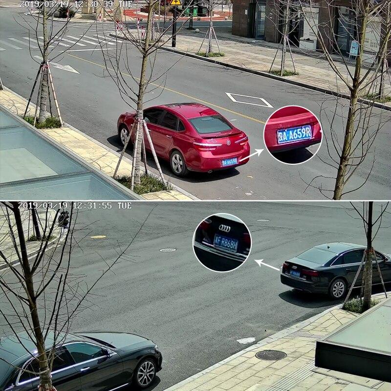2mp completa hd 1080 p anpr veículos reconhecimento de placa de número de licença 6 22mm lente lpr ip câmera ao ar livre para estacionamento com led ir - 5