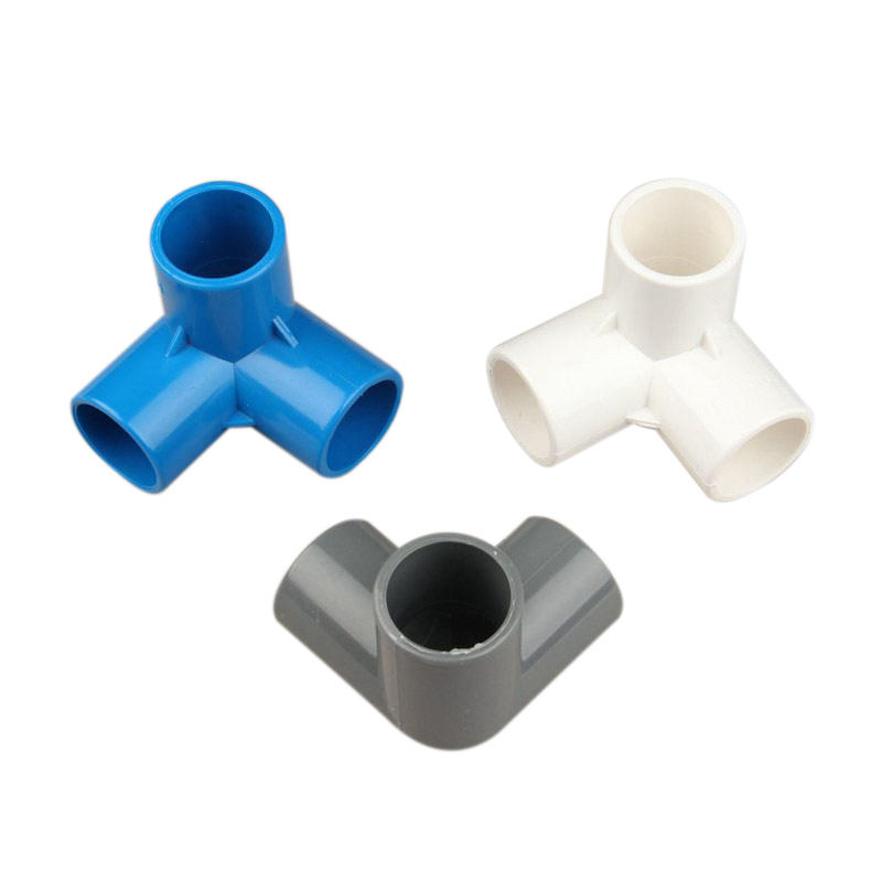 16pcs Plastic PVC 20mm Hose Tee Connector 3 Way Joint For Garden Irrigation Watering Pipe Adapter Tube Parts Tools