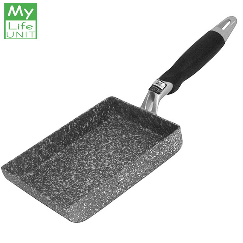 MyLifeUNIT Maifanite Stone Fried Eggs Pans Mini Square Non-Stick Japanese-Style Frying Pans Maker Breakfast Pot