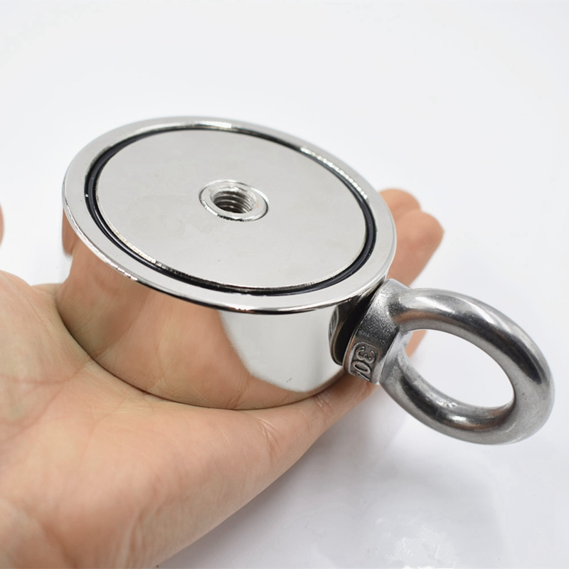 Strong Neodymium Magnet Double Side Search Magnet Hook Super Power Salvage Fishing Magnetic D74x28Mm 150Kgx2 Stell Cup Holder