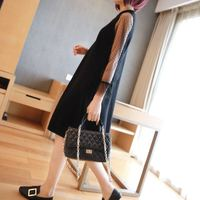 Ladies knit dress temperament autumn long section of gauze long sleeved sweater t 2019 Korean version of the new women