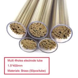 Wiertło mosiężne elektrody rury wielu 4 otwory OD1.5 * 400mm długość dla EDM wiertarka