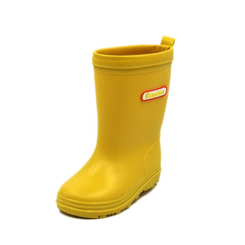 Image 5 - Children Rain Boots Spring Autumn Winter Boys Girls Shoes Baby Kids Boys Girls Rainboots Waterproof Shoes Cartoon RainbootBoots   -