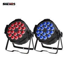 SHEHDS-éclairage en alliage d'aluminium, 2 pièces 18x18W rgbw + UV LED Par, théâtre de fête en discothèque DJ 18x12W 18x15W