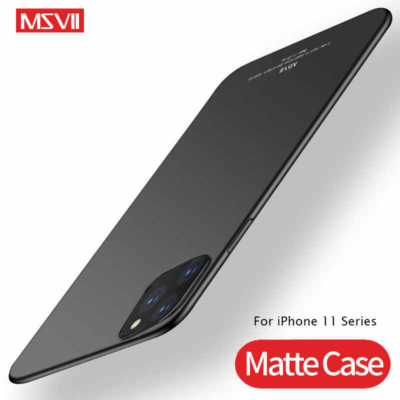 MSVII Tampa Para iPhone Coque 11 Pro Max Caso Ultra Fino Fosco Para Apple iPhone 11 Pro Caso Capa Fina para o iphone Caso 11 11 Pro
