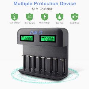 Image 4 - PALO LCD Screen Battery USB NiCd NiMh Battery Charger 8 Slots Universal Smart Charger For AA AAA C D Size Rechargeable Batteries