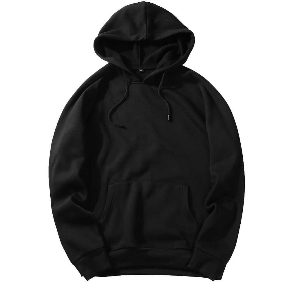 Moonspecial 가을 패션 후드 남성 따뜻한 양털 코트 후드 남성 브랜드 후드 티 스웨터 eu 크기