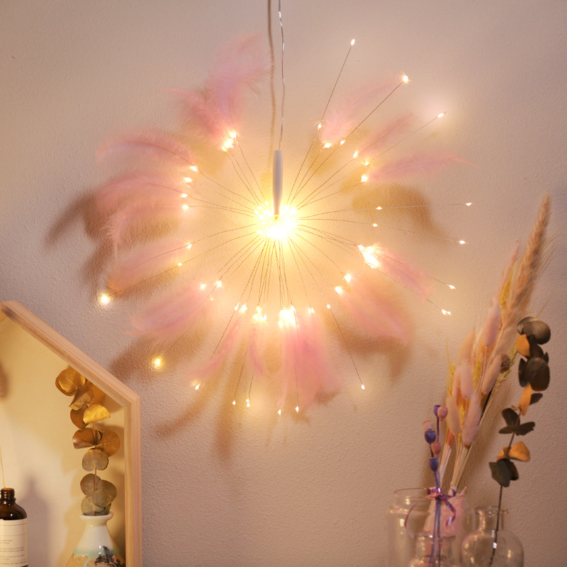 100LED Feather String Fairy Light Waterproof Romantic USB Powered Christmas Garland For Wedding Party Birthday Decoration
