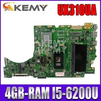 UX310UA Laptop motherboard for ASUS UX310UQK UX310UQ UX410UQ UX410UQK UX310UV original mainboard 4GB-RAM I5-6200U k541u for asus x541uv x541uvk a541u x541uj f541u x541u r541u laptop motherboard mainboard 100