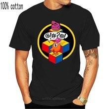 Q-bert, футболка, аркадная, видео, игра, Классическая, ретро, 80-е, Веселая мультяшная футболка, Мужская Унисекс, новая модная футболка бесплатно