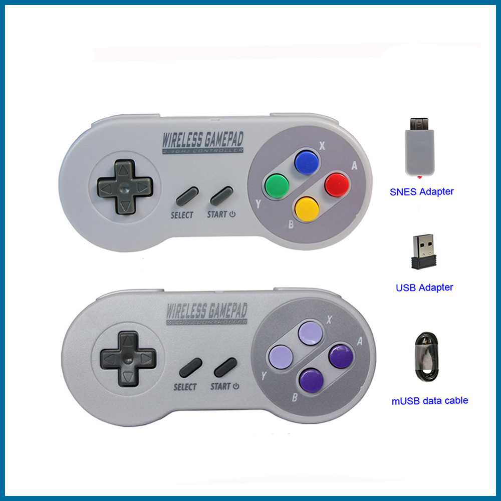 S ROBOT Wireless Gamepad 2.4GHZ, Suitable For SNES Super Nintendo Classic MINI Game Console Remote Control Accessories RPI163