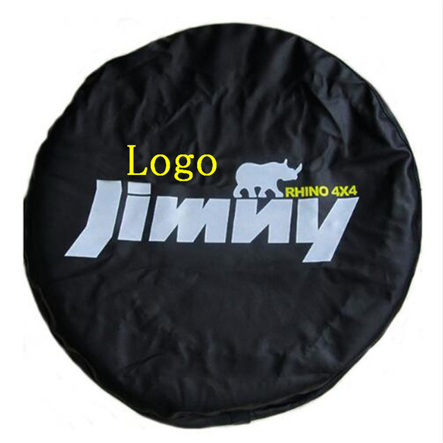 """1Pcs Car 14"""" 15"""" Inch PVC PU Leather Spare Tire Wheel Cover Bag Protector Case Pouch For Suzuki Jimny Accessories"""