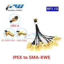 Кабель преобразователя антенны 5 шт./лот, разъем U.FL / IPX на гнездо SMA RG1.13, кабель с разъемом SMA, разъем IPEX на телефон 5 см-1 м