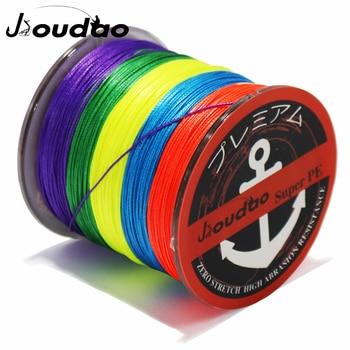 цена на Jioudao 8 Strands Braided Fishing Line 500M PE Wire 8LB-160LB Multifilament Braid Fishing Line 7 Colors To Choose