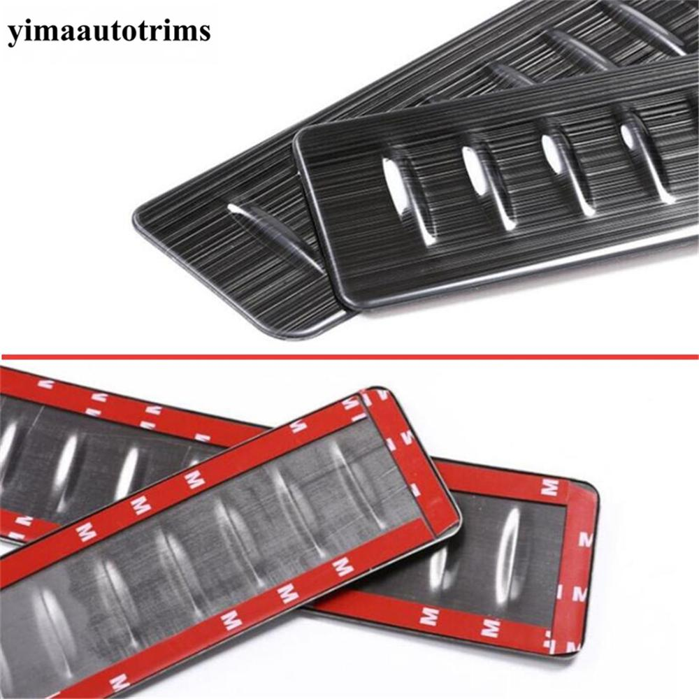 Купить внутренняя задняя накладка на порог двери багажника противоскользящая