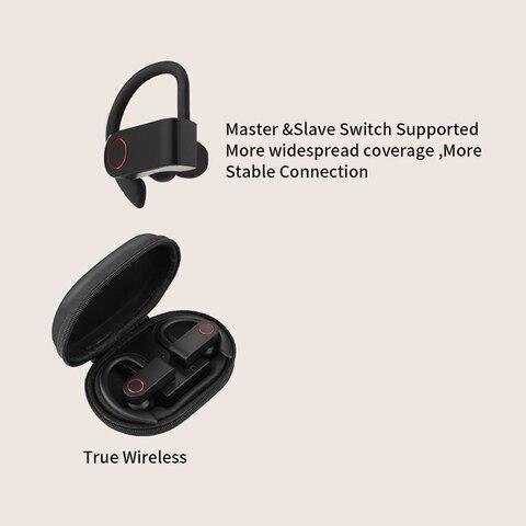 Wireless Sports Headphones TWS Bluetooth 5.0 Earphones Ear Hook Running Noise Cancelling Stereo Earbuds With MIC IPX4 Waterproof Islamabad
