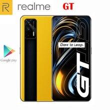 Oficjalny nowy oryginalny telefon komórkowy Realme GT 5G 6.43 cala 120Hz Super AMOLED Snapdragon 888 Android11 64MP 4500Mah 65W ładowanie błyskowe