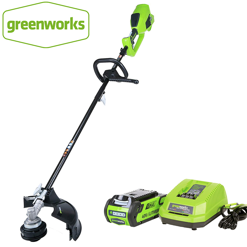 GreenWorks Brushless Motor 1200W Powerful G-MAX 40V 14-Inch Cordless String Trimmer ,4Ah Battery And Charger Included