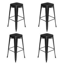 Новое поступление 4 шт. черный металлический скандинавский барный стул современный кованый барный стул модный высокий стул обеденный стул