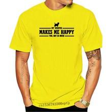 Cotton T-Shirt Fashion T Shirt TWILMH T-Shirt Hund Hunde MY WESTIE MAKES ME HAPPY WILSIGNS Siviwonder Tee Shirt