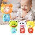 Música criativa dos desenhos animados do telefone móvel luminoso infantil educacional bebê pequeno presente brinquedos para crianças