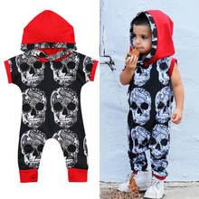Детский хлопковый комбинезон с капюшоном без рукавов