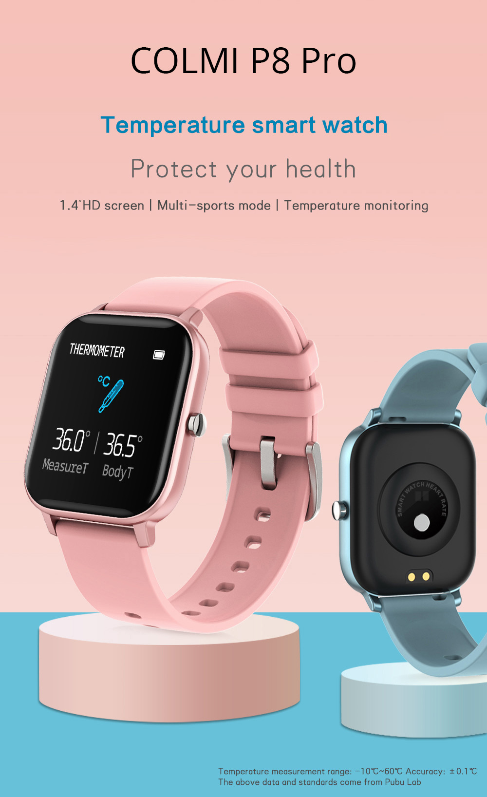 COLMI P8 Pro Smart Watch with Heart Rate Monitor 1
