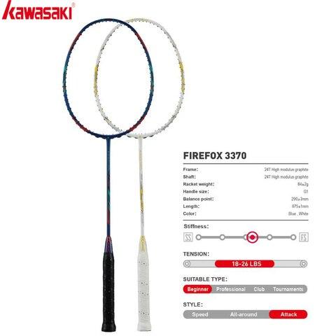 Raquetes de Badminton tipo Controle Raquete para Jogadores Kawasaki Bola Primários Única Raquete Firefox 3370 2020