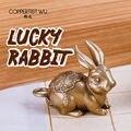 Брелок COPPERTIST.WU Bunny для девочек  для подруги  современной сестры  милая цепочка для ключей с животными  кавайное очаровательное латунное коль...