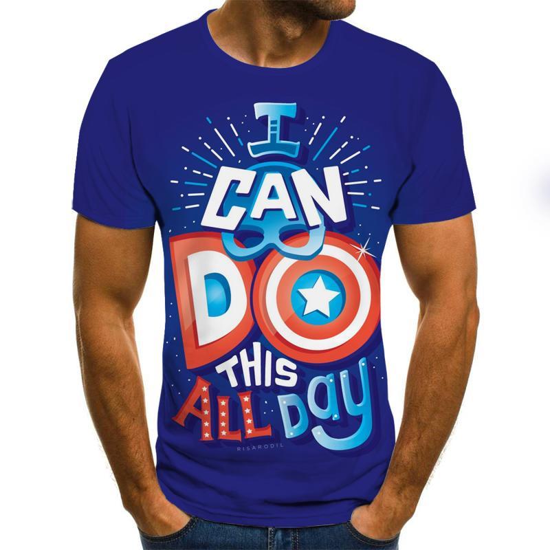 Summer Fashion 3D Printed T-shirt Men's/Women's T-shirt Harajuku Short-sleeved T-shirt Funny Individuality Shirt T-shirt 5