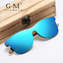GM Handmade Sunglasses Men Polarized Walnut Wooden Eyewear Women Mirror Vintage Oculos de sol masculino UV400 Polarized Lens стоимость