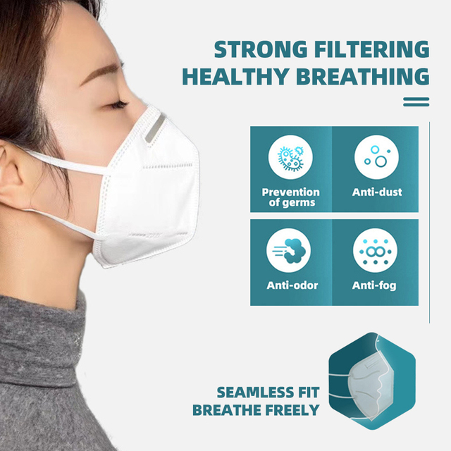 KN95 Mask with Valve Safety Protective Mask PM2.5 N95 Fliter Anti Dust Pollution Earloop Face Mask Flu Respirator as KF94 9502v 3