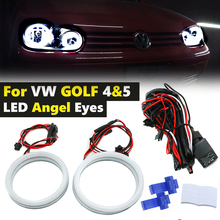 4x alta qualidade led algodão luz branco halo led angel eyes anéis para volkswagen golf 4 5 mk4 mk5 1998 2009 luz de circulação diurna