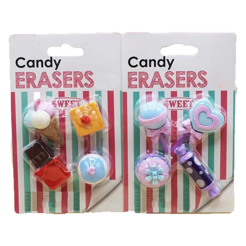 Girl Style Candy Rubber School Eraser For Party Gifts Bowknot Flower  Pencil Eraser With Free Gifts For New Buyers