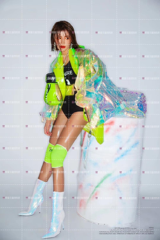 Hologramme paillettes femmes à la mode desserrer veste Bling Laser manteaux réfléchissants Punk danse Hip Hop veste annonces modèle holographique ensemble - 3