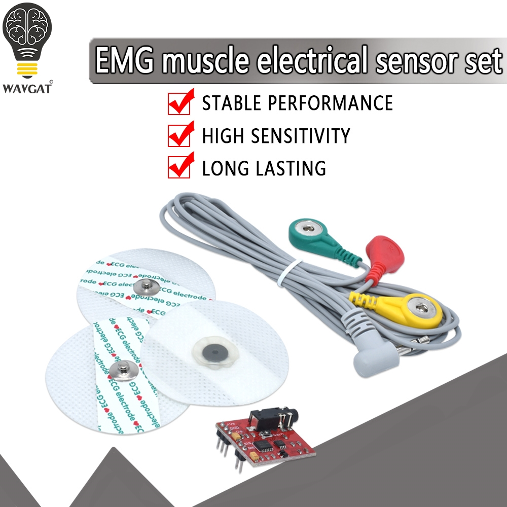 Muscle Signal <font><b>Sensor</b></font> <font><b>Emg</b></font> <font><b>Sensor</b></font> Controller Detects Muscle Activity For Arduino Development board for wearable Devices image