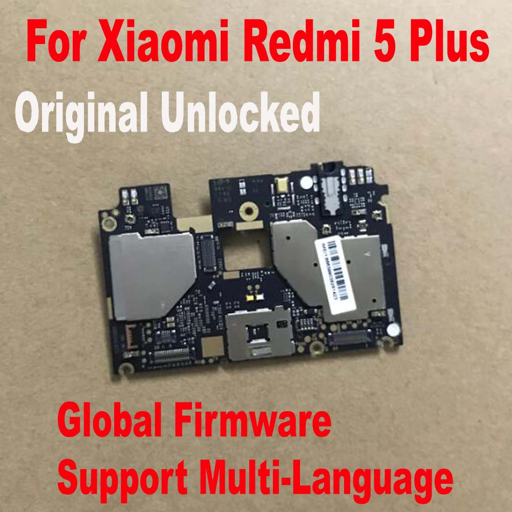 Global FirmWare Original Test Working Unlock Mainboard For Xiaomi Redmi 5 Plus Hongmi 5Plus Motherboard Circuits Fee Flex Cable