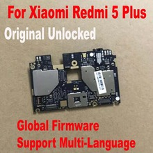 Global FirmWare Original Test Working Unlock Mainboard For Xiaomi Redmi 5 Plus Hongmi 5Plus Motherboard Circuits Fee Flex Cable