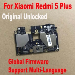 Image 1 - Global FirmWare Original Test Working Unlock Mainboard For Xiaomi Redmi 5 Plus Hongmi 5Plus Motherboard Circuits Fee Flex Cable