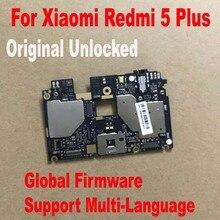 Global เฟิร์มแวร์เดิมทดสอบการทำงานปลดล็อกเมนบอร์ดสำหรับ Xiaomi Hongmi 5 Plus Redmi 5 Plus เมนบอร์ดค่า Flex Cable