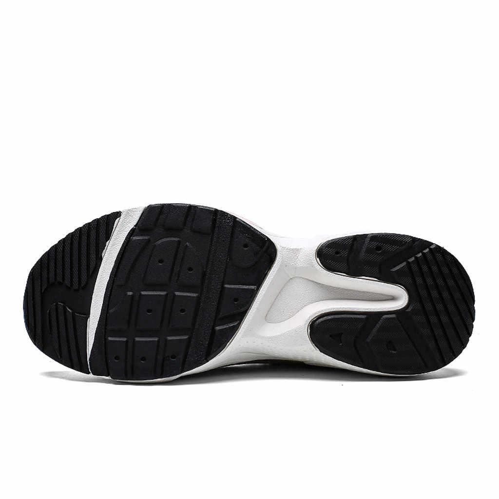 2019 zapatos vulcanizados para hombre Zapatillas de malla transpirables al aire libre de moda ligera para correr zapatos de fondo plano tenis masculino